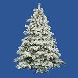 Vickerman Flocked Alaskan Pine Tree with 1495 Tips, 7.5-Feet by 68-Inch