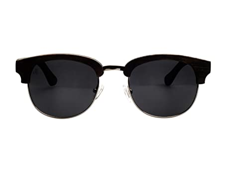 9330b2dbe94b9 Swole Panda - Black Bamboo Clubmaster Sunglasses with Pouch and Case SP001