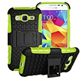 Samsung Galaxy Core Prime Case Cover -Lantier Tough Rugged Dual Layer Protective Case with Kickstand for Samsung Galaxy Core Prime G360 / Prevail LTE (2015 Release) Green