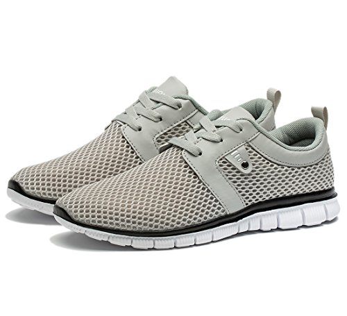 Tianui Wanderschuhe Herrenmode Breathable Turnschuhe Casual Athletisch Leichte Outdoor Sports Schuhe Grau