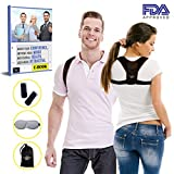 Back Posture Corrector for Women Men Teen - Effective and Comfortable Posture Brace for Slouching and Neck Pain Relief with Carrying Bag + Free Sleeping Mask and Soft Pads by NY4U