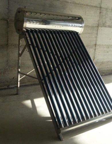 Panel solar térmico para agua cliente, depósito inoxidable de 100 litros, accesorios incluidos: Amazon.es: Hogar