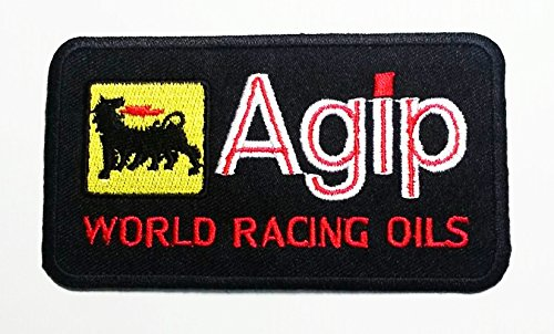 agip-world-racing-oils-motorsport-ralley-car-motorbike-iron-on-patch-embroidered-patches
