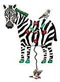 Allen Designs Zeb Zebra Pendulum Clock For Sale