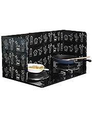 2Pcs Disposable Oil Splash Guard Aluminum Foil Gas Stove Oil Splatter Screen Board Cooking Frying Oil-Proof Splash Kitchen Tool (Black)
