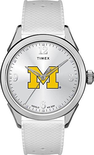 Michigan Wolverines Ladies Watch - Timex University of Michigan Wolverines Ladies Silcone Athena Watch