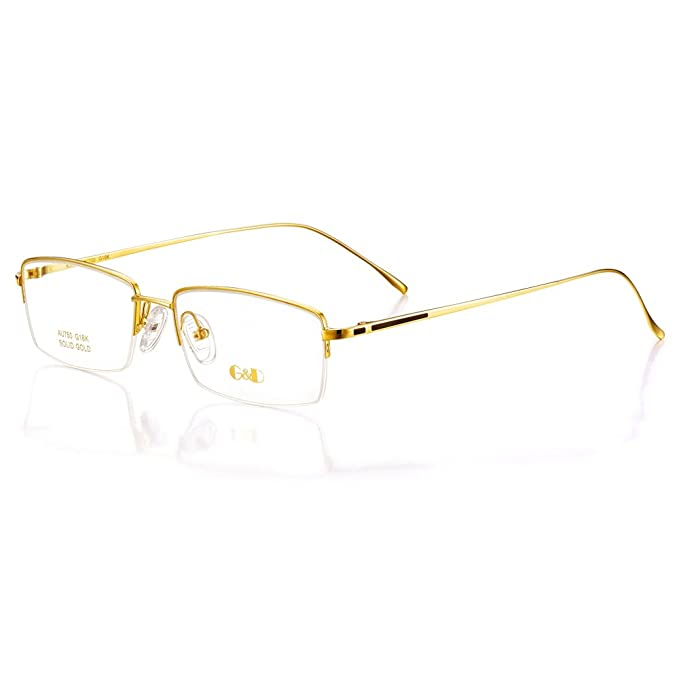 G&D 18K Gold Glasses Frame YG018: Amazon.ca: Clothing & Accessories