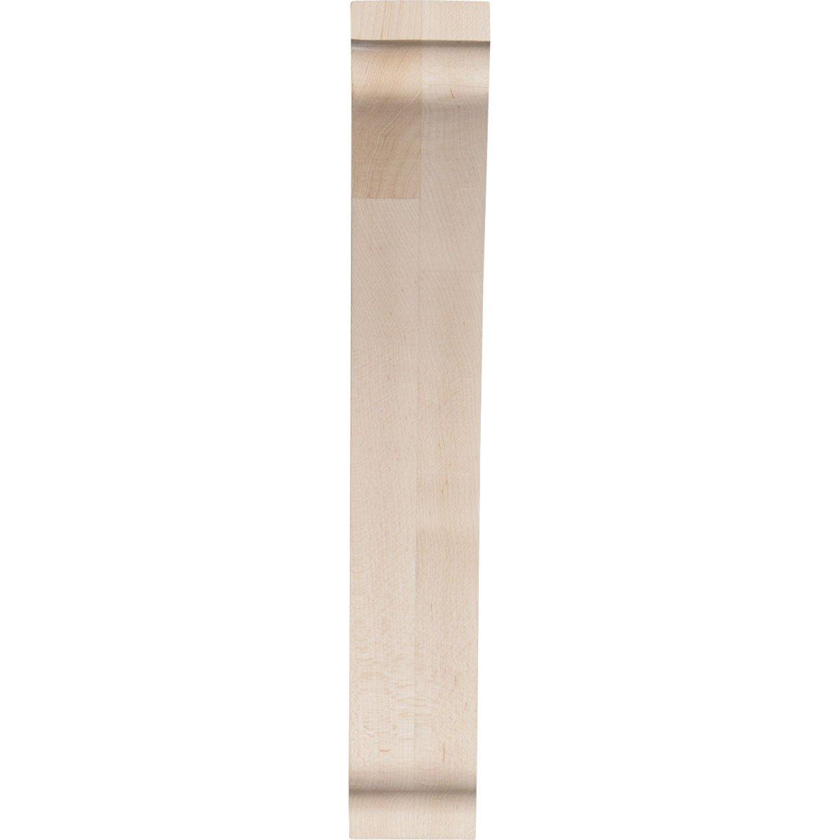 Ekena Millwork BKTW01X08X12THRW-CASE-6 1 3//4W x 8 1//2D x 12H Large Thorton Wood Bracket x x Piece 6-Pack Rubberwood
