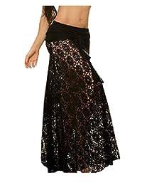 Moxeay Women Bikini Swimwear Cover up Mesh Hollow Out Lace Crochet Dress