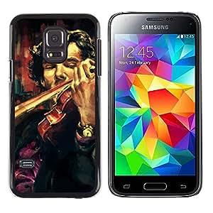 EJOY---Cubierta de la caja de protección la piel dura para el / Samsung Galaxy S5 Mini, SM-G800 / --Holmes violín Pintura