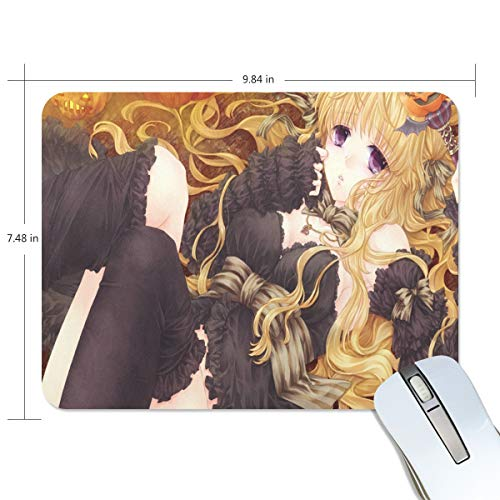 Mouse Pad Unique Anime Halloween Background Gaming Mousepad Cheap Small Thick Mouse Mat Black Trendy Mouse -