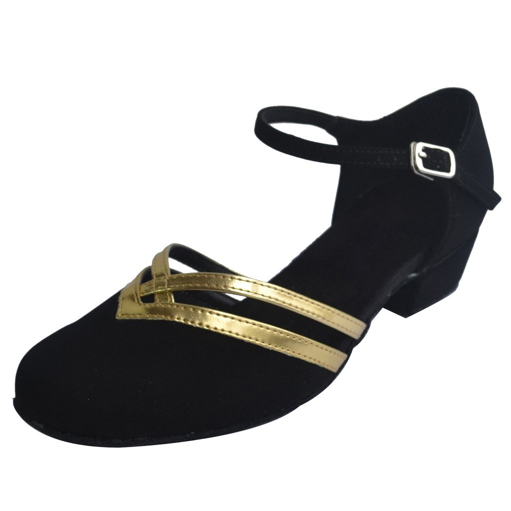 1920s Style Shoes Jig Foo Latin Salsa Rumba Chacha Practice Ballroom Dance Shoes for Women $54.99 AT vintagedancer.com