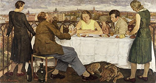 Oil Painting 'Lotte Laserstein Abend Uber Potsdam 1930', 18 x 34 inch / 46 x 85 cm , on High Definition HD canvas prints is for Gifts And Bed Room, Laundry Room And Nursery Decoration