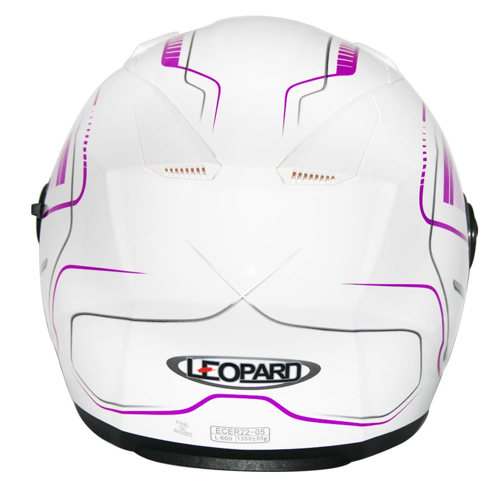 Leopard LEO-608 Double Sun Visor Open Face Motorbike Motorcycle Helmet Road Legal 57-58cm Graphic Green M