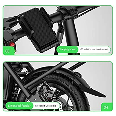 LINGS Foldable Bicycle Kids' Bikes 12 inch Sports Folding Bicycle Home Men and Women Bicycle Small Mini Travel Skateboard: Home & Kitchen