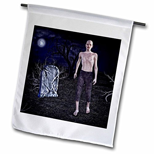Boehm Graphics Holiday Halloween - A Zombie Walking in the Graveyard - 12 x 18 inch Garden Flag (fl_245584_1)