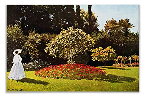 - Monet Wall Art Collection Woman in The Garden by Claude Monet Canvas Prints Wrapped Gallery Wall Art | Stretched and Framed Ready to Hang 24X32,