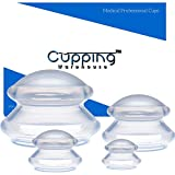 Supreme 4 -Cellulite Reducing, Weightloss Shaping, Pain Relieving, Lymph Draining, Wrinkle Reducing Professional Medical Silicone Cupping Therapy Set w/ Free Online Membership w/ Tutorials & Video's