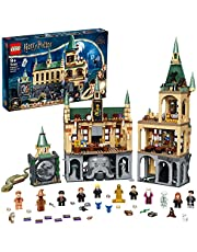 LEGO 76389 Harry Potter Hogwarts Chamber of Secrets Modular Castle Toy with The Great Hall, 20th Anniversary Set with Collectible Golden Minifigure