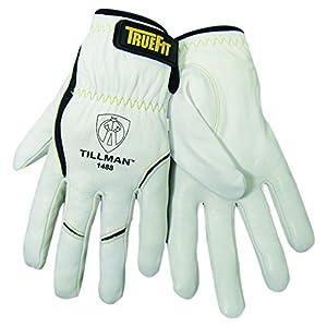 John Tillman 1488 M True Fit Medium Top Grain Kevlar/Goatskin Super Premium Grade TIG Welders' Glove with Elastic Cuff, V Design Thumb/Hook/Loop Closure, English, 15.34 fl. oz., Plastic, 1 x 12 x 5