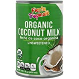 Fiesta Tropicalé - Coconut Milk, Organic, Unsweetened - 13.5 ounces (Pack of 6 cans)