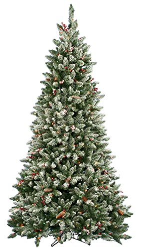 6.5' Pre-Lit Frosted Edina Slim Artificial Christmas Tree - Clear Lights