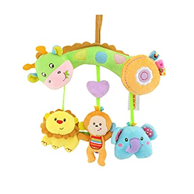 MAJINCGJ Newborn Baby Toy Bed Bell Stroller Bed Hanging Hanging Toy Bell Newborn Toy Bed Decorated Plush Fabric Rattle Teether 0-1 Years Old Baby Grasping Toy : Baby