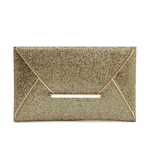 Purse Embrayages de Métal Glitter pour De Élégant Miss en Mariage Cosmétique Gold Black Femmes Joy Clutch Sac Banquet Soirée Forme Color discothèques Sac Enveloppe nxqHHCfSO