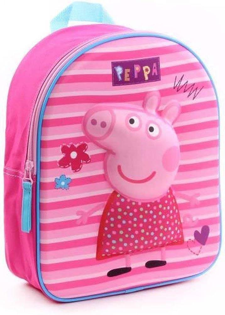 Sac /à dos en forme de c/œur Peppa Pig sac /à dos pour enfants bleu rose