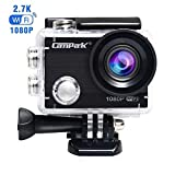 Campark ACT68 Action Camera Waterproof Camera WiFi 4K & FHD 1080P Underwater Video Cam with Mounting Accessories Kit Compatible with go pro