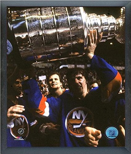 Mike Bossy New York Islanders NHL Stanley Cup Trophy Photo (Size: 12