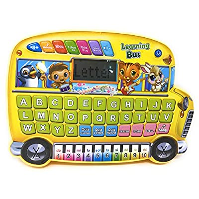 Mallya Educational Touch Magic Alphabet Learning School Bus Toy for Kids