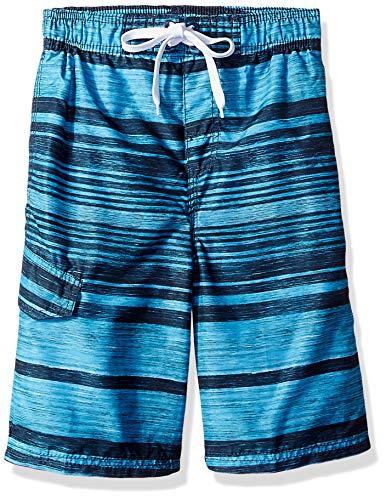 Kanu Surf Big Boys' Jetstream Quick Dry Beach Swim Trunk, Aqua, Large (14/16) ()