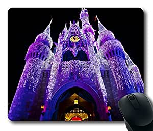 Design Christmas At The Castle Mouse Pad Desktop Laptop Mousepads Comfortable Office Mouse Pad Mat Cute Gaming Mouse Pad by runtopwell
