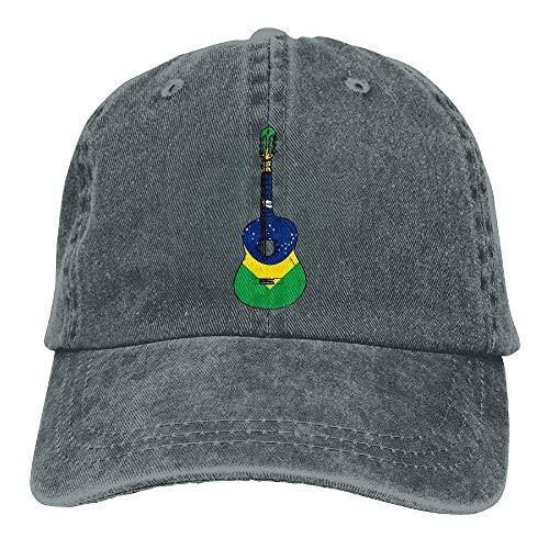 2018 Adult Fashion Cotton Denim Baseball Cap Brazil Flag Guitar Art Classic Dad Hat Adjustable Plain Cap