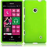 For Nokia Lumia 521 Hard Cover Case Neon Green Accessory