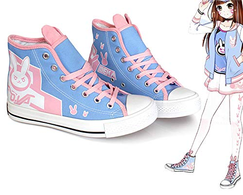 DVA Shoes Canvas Blue Flats Cosplay Costume Grils Accessories Womens 38 -