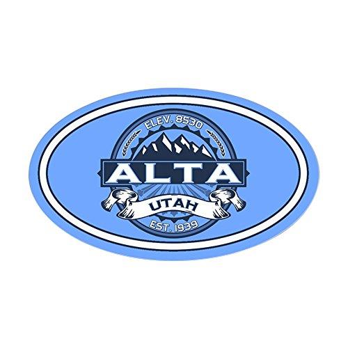 CafePress Alta Blue Oval Bumper Sticker, Euro Oval Car Decal -