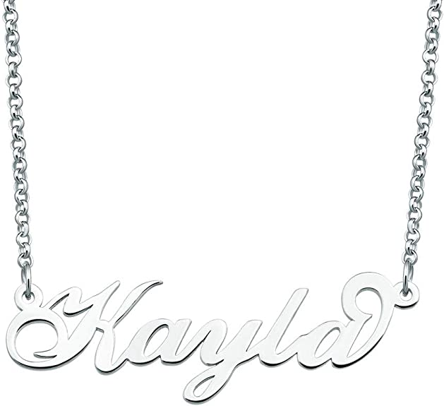 Moonlight Collections Name Plate Necklace Personalized Necklace Katlyn