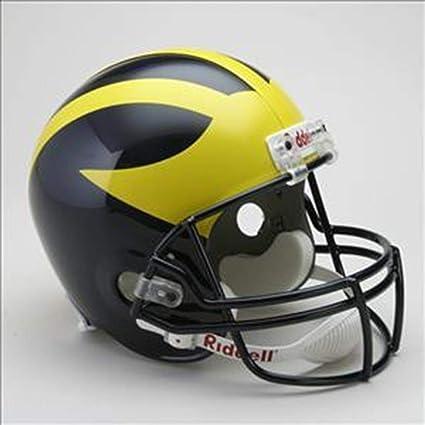 91f36c452 Amazon.com   NCAA Michigan Wolverines Deluxe Replica Football Helmet ...