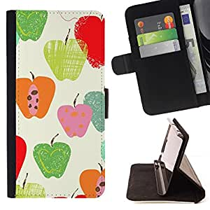 Momo Phone Case / Flip Funda de Cuero Case Cover - Patrón de la caída del otoño Naturaleza Verde - Sony Xperia M5