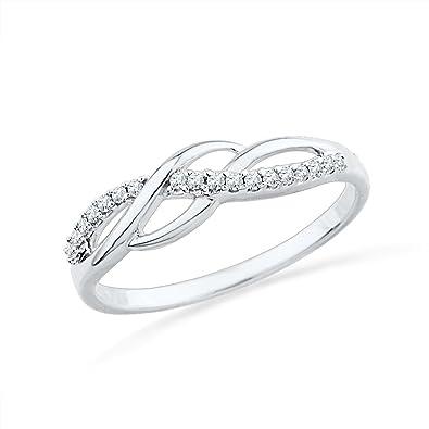 Fine Jewelry CT. T.W. Diamond Sterling Silver Twist Ring lge0hNG