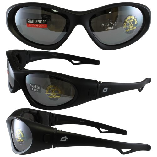 Birdz Eyewear Gull Floating Jet Ski Glasses Convert to Goggles (Black Frame/Smoke Mirror - To Glasses Convert Sunglasses