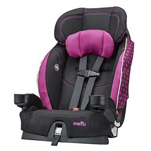 Berry Seat - Evenflo Chase Select Harnessed Booster Car Seat, Berry Dot