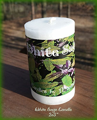 - Offered by Sacred Vessel Luminaries White Sage Candle 2x3