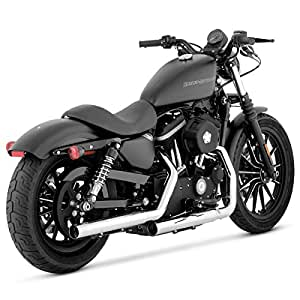 Vance and Hines Straightshots HS Chrome Slip-On Exhaust for Harley Davidson 200 - One Size
