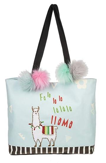 87742a5cf6ae Amazon.com: Ganz Falalala LLama Tote Bag Womens Accessories: Beauty