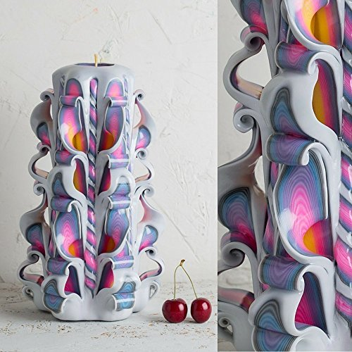 Birthday Candle White Rainbow, Carved Handmade Decorative, Gay Pride Gecor, LGBT Gifts - - Shop Crossroads Gift