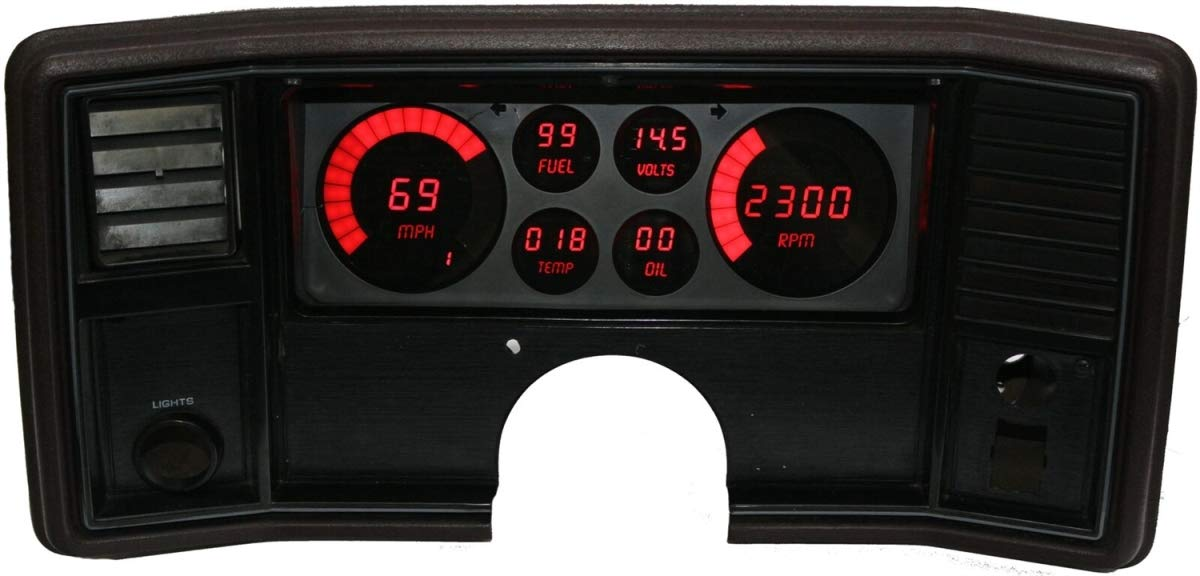 Intellitronix Corp. 1978-1988 Monte Carlo/El Camino LED Digital Dash Replacement Panel (Red)