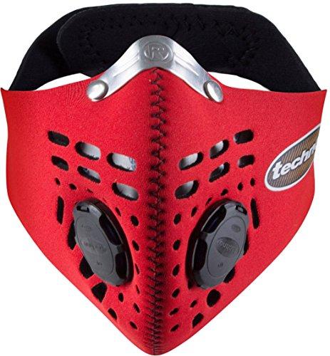 Respro Techno Anti-Pollution Mask - Medium - red